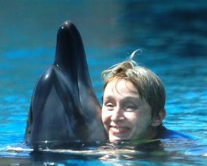 Hugging Dennita Dolphin